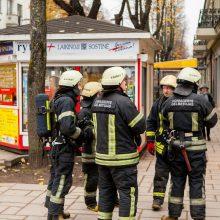 Tikrinti mįslingo kvapo į Laisvės alėją skubėjo nemažos ugniagesių pajėgos