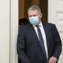 Dėl kontakto su R. Šalaševičiūte turės saviizoliuotis ministras A. Palionis