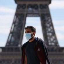Prancūzijoje registruota rekordiškai daug naujų infekcijų – beveik 10 tūkst.