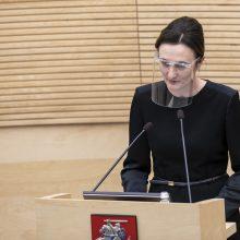 """V. Čmilytė-Nielsen: """"valstiečiai"""" savo atstovą valdyboje turės delegavę opozicijos lyderį"""