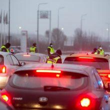 Per dvi dienas apgręžta 1,5 tūkst. automobilių, 530 žmonių nubausta