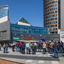 Vilniaus viešojo transporto vairuotojų kantrybė trūko: susirinko į mitingą