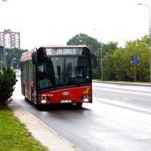 Keisis kai kurių sostinės autobusų maršrutų tvarkaraščiai ir trasos