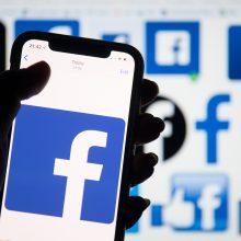 """""""Facebook"""" suduotas teisinis smūgis dėl neapykantą kurstančio turinio"""