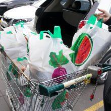 Prekybos vietose – draudimas nemokamai dalyti plastikinius pirkinių maišelius