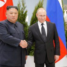 """V. Putino ir Kim Jong Uno susitikimas Vladivostoke: derybos buvo """"labai reikšmingos"""""""