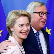 Siūloma naujoji Europos Komisijos vadovė atvyko pirmo vizito į Briuselį