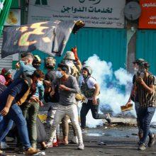 Bagdade malšinant protestus ašarinių dujų kanistrai užmušė keturis demonstrantus