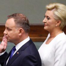 Lenkijos prezidentu antrai kadencijai prisaikdintas A. Duda
