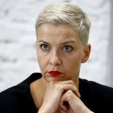 Baltarusijos opozicionierė M. Kalesnikava baiminasi, kad liks be advokato