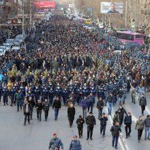 Armėnijos premjeras: dėl mano atsistatydinimo turi spręsti tauta