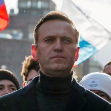 A. Navalno bendražygiai sunerimę dėl bado streiką paskelbusio opozicionieriaus sveikatos