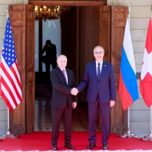 V. Putinas atvyko į Ženevą derybų su J. Bidenu