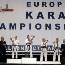 Europos čempionato kata rungtyje lietuviai pelnė tris medalius