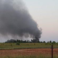 Ugniagesiai skubėjo į Šlienavą: degė namas