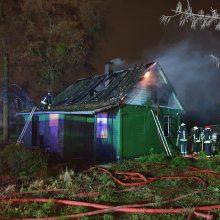 Aleksote atvira liepsna dega namas