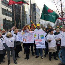 Briuselyje vėl protestuoja Lietuvos ūkininkai: nori didesnių išmokų