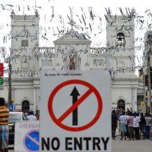 Pamaldos Šri Lankos bažnyčiose atidėtos dėl naujų teroro aktų grėsmės