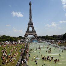 Paryžius su klimato kaita kovos parkais ir sodais