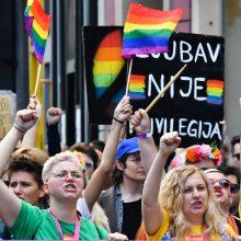 Bosnijos sostinėje surengtas pirmasis LGBT paradas