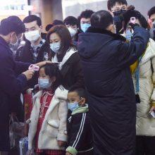 Viruso protrūkis Kinijoje: uždaromi miestai