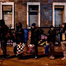 Policija iškeldino šimtus migrantų iš stovyklos Paryžiuje