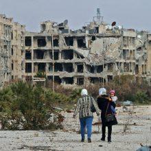 Šiaurės Vakarų Sirijoje 170 tūkst. žmonių gyvena lauke