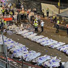 Izraelyje per piligrimų spūstį žuvo 44 žmonės