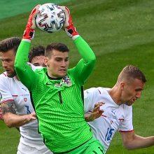 Europos futbolo čempionatas: kroatai lygiosiomis sužaidė su čekais