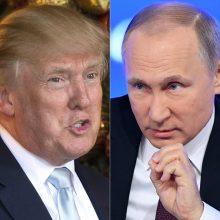 V. Putinas ir D. Trumpas aptarė kovą su koronavirusu, naftos rinką