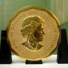 Už 100 kilogramų auksinės monetos vagystę nuteisti kalėti trys vyrai