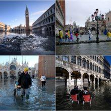 Venecijoje laukiama dar vienos potvynio bangos
