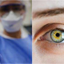 Ar galima koronavirusu užsikrėsti per akis?