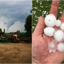 Audringi orai Lietuvoje: užfiksuotas net viesulas