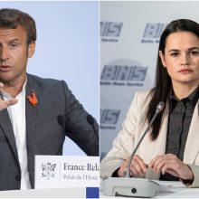 S. Cichanouskaja ragina E. Macroną tarpininkauti sprendžiant krizę Baltarusijoje