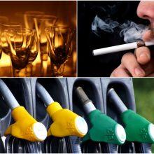 Alkoholio, tabako ir degalų akcizų didinimui uždegta žalia šviesa