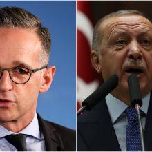 Vokietijos ministras: tegu R. T. Erdoganas šaudosi žodžiais, o ne raketomis