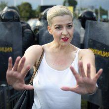 Baltarusijos opozicijos atstovė M. Kalesnikava lieka sulaikyta