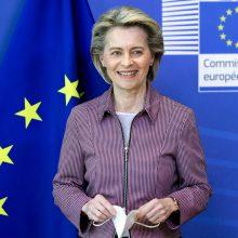 EK vadovė: ketvirtadalis ES gyventojų paskiepyti bent viena vakcinos doze