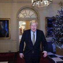 Pergalę rinkimuose iškovojęs B. Johnsonas atvyko į Bakingamo rūmus
