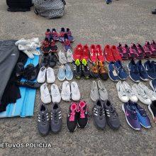 Marijampolės policija turguje sulaikė didelį kiekį padirbtų drabužių