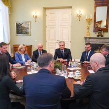 Po gaisro Alytuje prezidentas siūlo papildomus saugiklius įmonėms