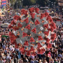 """Vokietijoje dėl COVID-19 antrus metus iš eilės atšaukiamas alaus festivalis """"Oktoberfest"""""""