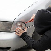 Įspėja dėl automobilių vagysčių: nesaugu net aptvertuose kiemuose