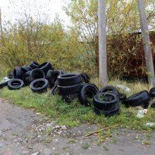 Aplinkosaugininkai: neišmeskite senų padangų bet kur