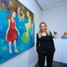 Paryžiuje gyvenanti menininkė Vilniuje minėjo savo kūrybos 20-metį
