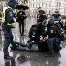 Per A. Paleckio palaikymo mitingą Vilniuje sulaikytas vyras