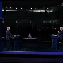 J. Bidenas atsisako D. Trumpą diskredituojančios reklamos