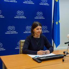Finansų ministrė ir TVF vykdomasis direktorius aptarė pasaulio ekonomikos padėtį
