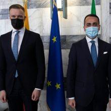 G. Landsbergis: yra progų Lietuvos ir Italijos santykius pakelti į aukštesnį lygmenį